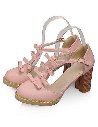 WSS 2016 Chaussures Femme-Mariage / Habillé / Décontracté / Soirée & Evénement-Bleu / Rose / Violet / Blanc-Gros Talon-Talons-Talons-Similicuir white-us9 / eu40 / uk7 / cn41