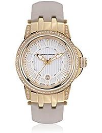 Chrono Diamond 82073_weiß-43 mm - Reloj para mujeres, correa de cuero color beige