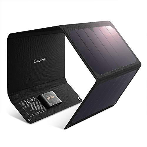 Menos residuos, más potencia Las células solares altamente eficientes de RAVPower convierten hasta 21,5 - 23,5 % de energía solar en energía libre, hasta un 50 % más que las eficiencias estándar. Si es un día soleado o estás haciendo senderismo bajo ...