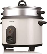 Kenwood 2 in 1 Non-Stick Rice Cooker with Steamer, RCM680, White, 2.5 Litre, Metal