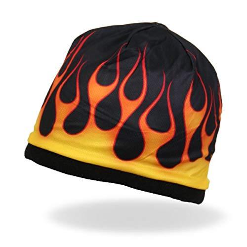 Daywalker Bikestuff Flammen Beanie Flames Knit Hat Harley Megaprint Leichter 3D Effekt -