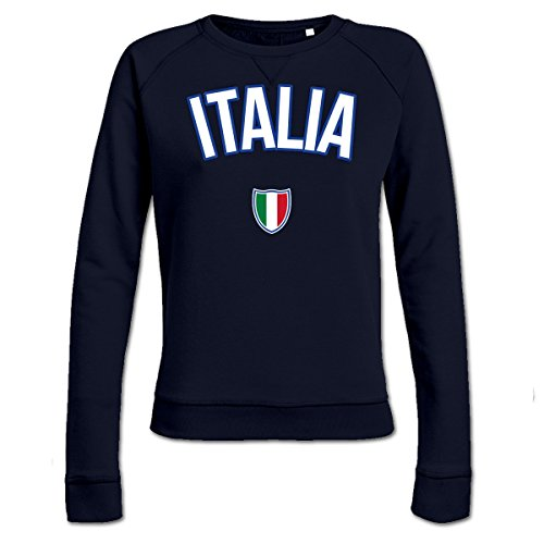 ITALIA Flag Fan Frauen Sweatshirt by Shirtcity (Italienisch-flag Sweatshirt)
