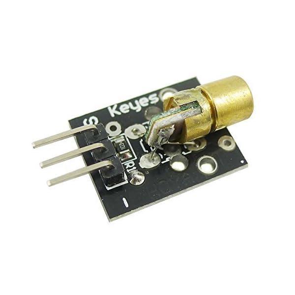 41jM7h7dt3L. SS600  - Aihasd KY-008 650nm 5V módulo de Sensor láser para Arduino con demo código