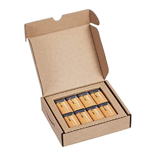 AmazonBasics Everyday Alkalibatterien 600 mAh, 9V, 8 Stück - 4