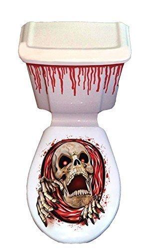 Skelett Toilette Greifer Sitzbezug & Spülkasten Gruselig Szene Setter Dekorationen (Szene Setter Dekoration)