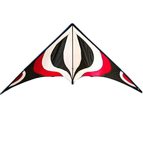 Babyeden Sport Lenkdrachen mit zwei Leitungen und X-LARGE 7 FT WING SPAN Prism Delta Outdoor-Fliegen (Rote)