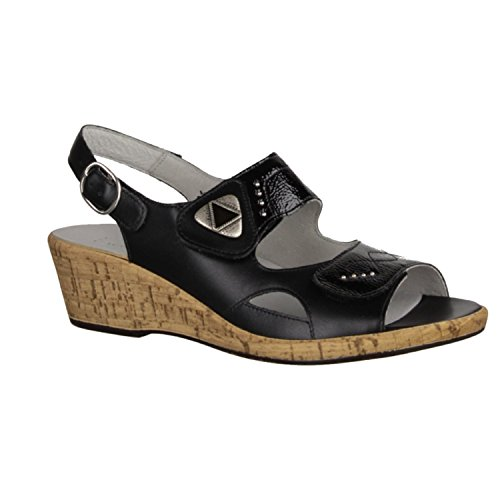 Waldläufer Chaussures de Ville à Lacets Pour Femme Noir Noir 45 Noir