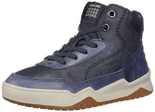 Geox j perth c, sneaker a collo alto bambino, blu (navy c4002), 36 eu