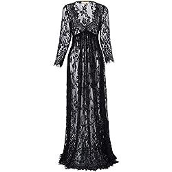 Femme Ete Sexy Enceintes Robe Longue Manches Robe de Maternité Taille M FR1082-1