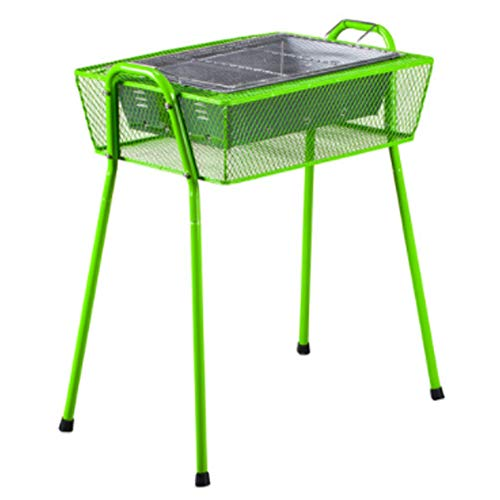 ZTXY Hitze-Beweis und Anti-Scorching Oven Easy Grill Mit Removable Legs Smoker Barbecue Grill Grills BBQ Utensil für Outdoor Camping Picnics Green -