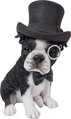 Hi-Line Gift Ltd. Boston Terrier mit Top Hat-Spektakel und Fliege