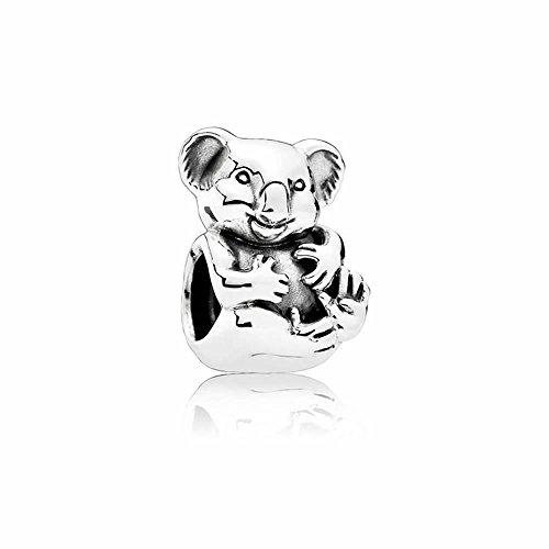 Abalorio de plata de ley 925, diseño de oso de koala, para pulseras VRC, para regalo