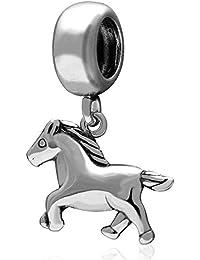 Abalorio para pulsera Pandora, diseño de bebé de caballo, ...