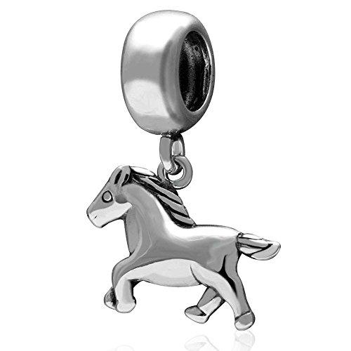 Pferde-Charm, 925erSterlingsilber, für Pandora-Bettelarmbänder