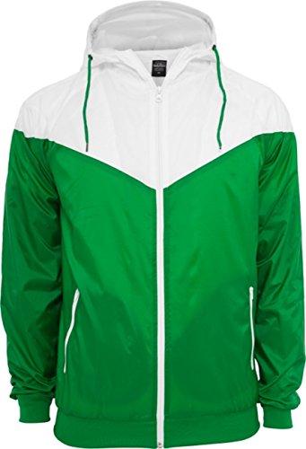 Urban Classics Herren Jacke Arrow Windrunner Green/White