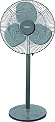 Maharaja Whiteline Wind Storm 165-Watt Pedestal Fan (Grey)