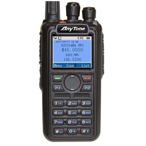Funktechnik Bielefeld AnyTone AT-D868UV Dualband DMR/FM Funkgerät mit GPS - 3100 mAh Akku