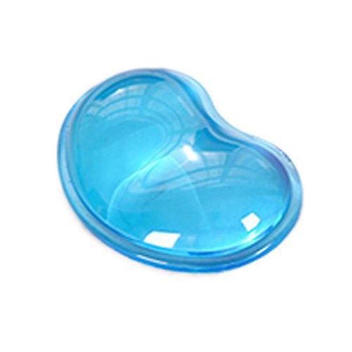 Bluestercool - Reposamuñecas, Forma de corazón, Gel (Azul)