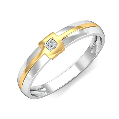 Professional Looking KuberBox Two Colour Gold and Diamond Ring