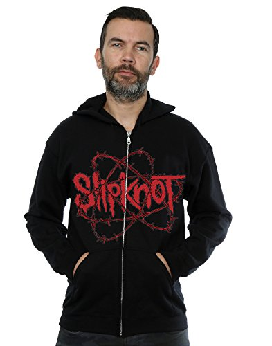 Slipknot Uomo Barbed Wire Zip Up Felpa con cappuccio Small Nero