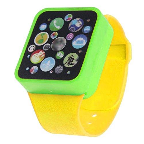 Greatestpak kids 'smart orologio da polso giocattolo, giochi di apprendimento educativo multi-funciton toccando lo schermo yellow