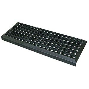 Gummi Stufenmatten Fußmatte Ringgummimatte 25×75 cm Treppenmatte Matte rutschhemmend (1 Stück)