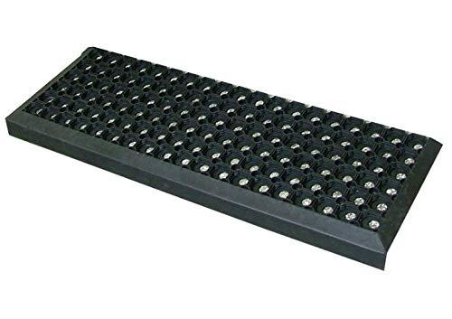 Gummi Stufenmatten Fußmatte Ringgummimatte 25x75 cm Treppenmatte Matte rutschhemmend (5 Stück)
