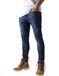 Urban Classics Slim Fit Biker Jeans, Azul para Hombre