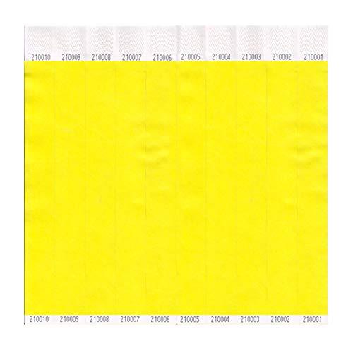 ClubKing Ltd Armbänder, aus Tyvek, uni, Gelb, 1000 Stück (Tyvek-armbänder 1000)