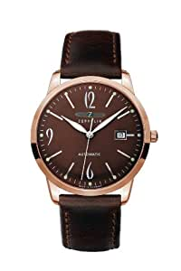 Zeppelin Gents Watch Flatline Automatic With Date Brown 7352-5