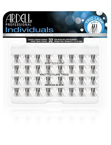 Ardell False Eyelashes - Individuals - Knotted Flare Trios - Medium Black -