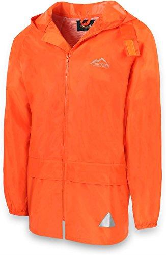 normani Leichte Windjacke/Regenjacke im Beutel, Unisex - Erwachsene Farbe Orange Größe S Orange Regenjacke