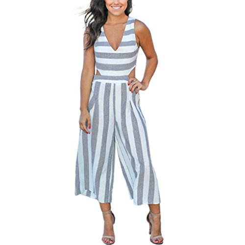 Frauen Chiffon Kurzarm Clubwear Playsuit VENMO Bodycon Party Jumpsuit Einteiler Overall Hosenanzug Elegant Romper Playsuit Pyjama Gemühtlich Wasserfallkragen Rückenfrei -
