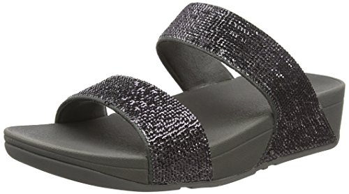 Fitflop Electra Micro Slide - Sandali a Punta Aperta Donna Grigio (Pewter)