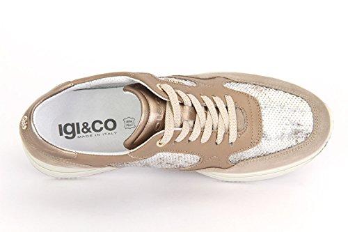 IGI & Co Damen Halbschuh/Schnürer/Sneaker visione/beige (Beige) 7774900 Beige