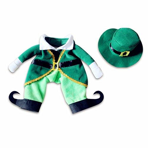 Blaward Haustiere Prinzessin Kostüm mit Hüten, Hund Katze Weihnachten Elf Kleidung Set, niedlich Dress up Pet lustige Kleidung 2st