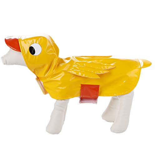 Hunde Kostüm Ente - Balacoo Hund Ente Kostüm Regenmantel Halloween Kleidung für Katzen Welpen Größe L