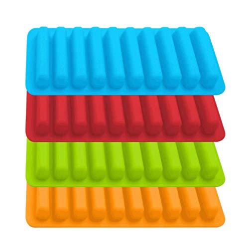 Poualss 4 Stück Ice Tube Trays, Silikon Eiswürfel Sticks Formen für Getränke in Flaschen, Wasserflaschen, Sportgetränke, Soda in Flaschen (10 Sticks)