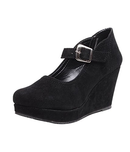 Feel It Comfortable Leatherite Casual/Formal/Partywear Wedges Footwear for Women's & Girl's - G-299-BLK,CREM-P  available at amazon for Rs.499