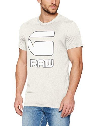 G-STAR RAW Herren T-Shirt Cadulor R T S/S Mehrfarbig (White Htr 129)