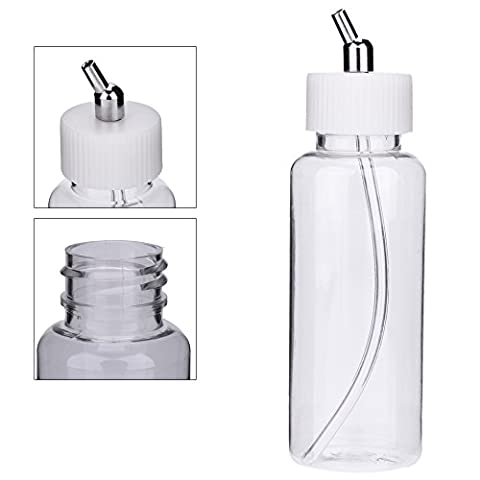 KKmoon 10PCS 100cc Airbrush Plastic Bottles Pot Lid Adapter Dual-Action Siphon Feed Air Brush Jars Airbrushing Accessories Paint Bottle