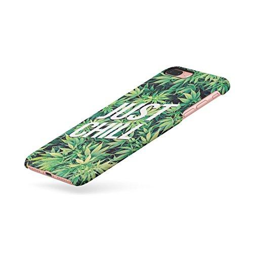 Weed Marijuana Leaf Black And White Pattern Dünne Rückschale aus Hartplastik für iPhone 5 & iPhone 5s & iPhone SE Handy Hülle Schutzhülle Slim Fit Case cover Just Chill