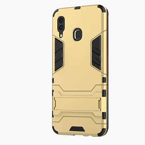 3Ciker Hülle Kompatibel mit Samsung Galaxy A30, 2 in 1 TPU+PC Dual Layer Hybrid 360 Grad Fall SchutzHülle Doppelschutz Stoßfest Kickstand Hard case Drop Resistance Test Bumper (4)
