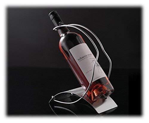 ASC Porte Bouteille de Vin Support en Fil Plaque en acier brossé ouvert ou fermé bouteilles...