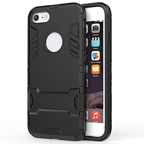 iPhone 7 Case , AEDILYS [Soft TPU & Hard PC Rugged] Shockproof Protective Cover Heavy Duty Hybrid Rugged Case Non-slip Grip Ultra Hard Cover Shell with Kickstand for Apple iPhone7