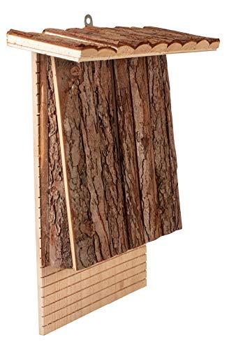 Gardigo Fledermaushaus aus FSC Holz I Fledermauskasten zum Aufhängen, wetterfest I Unterschlupf für Fledermäuse
