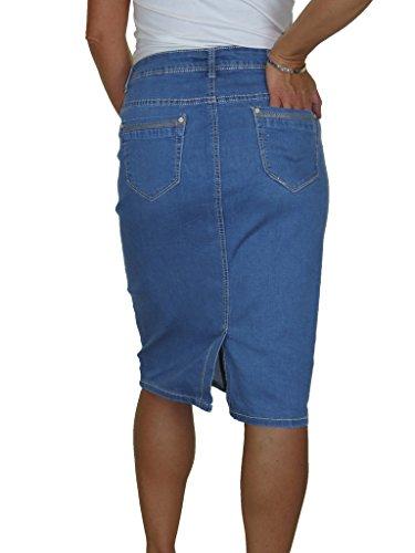 ICE Pannello esterno jeans stretch, lavaggio liscio, Mezza azzurra 44-54 Mezza azzurra