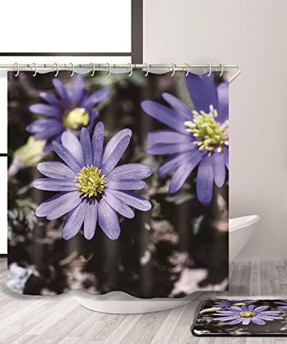Ferza home natura fiori tenda doccia tenda doccia di stampa 3d resistente all'acqua con tenda impermeabile di bagni parentesi quadre (11) dimensioni (color : a, size : 180 * 200cm)