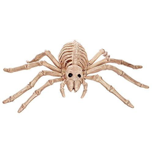 Spinne Uk Kostüme Halloween Baby (Halloween Dekoration Gegenstand Simulation Spinne Schädel Knochen Rahmen Horror Bar Haunted House)