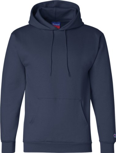 Champion Men's Double Dry Eco Pullover Hood Blu - blu navy